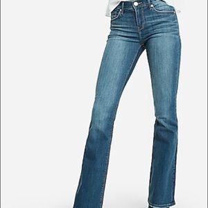 Express Mid Rise Bootcut Jeans Women's 10 short
